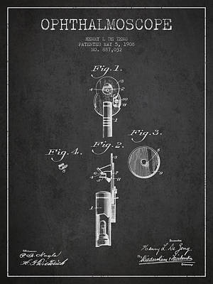 Ophthalmoscope Patent From 1908 - Dark Art Print