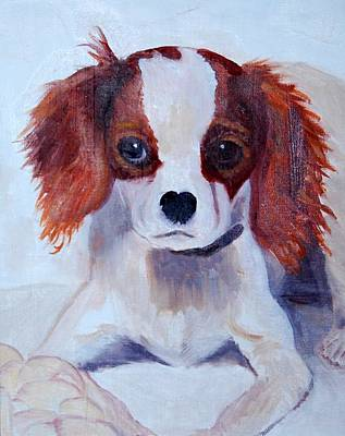Painting - Opie As A Puppy by Calliope Thomas