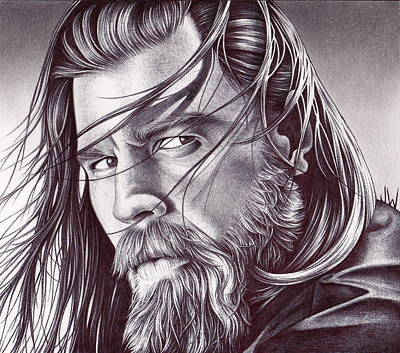 Sons Of Anarchy Drawing - Opie by Jamie Warkentin