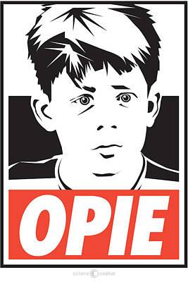 Digital Art - Opie Poster by Tim Nyberg