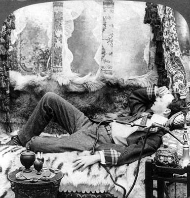 Addict Painting - Opium Smoker, C1904 by Granger