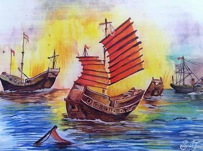 Opium War Art Print by Sumit Jain