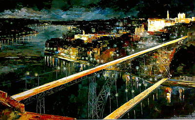 oporto Nights dream land Art Print by Joaquim Alberto Costa