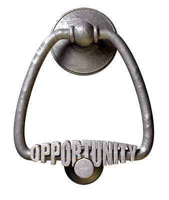 Knock Digital Art - Opportunity Knocks Door Knocker by Allan Swart