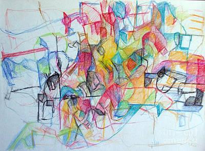 Creativity Drawing - Bseter Elyon 108 by David Baruch Wolk