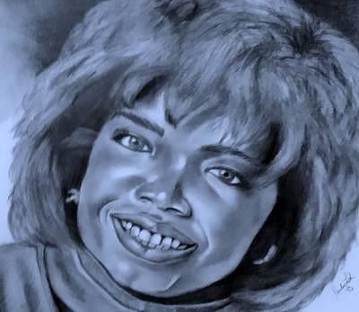 Drawing - Oprah Cyan by Rob Hans