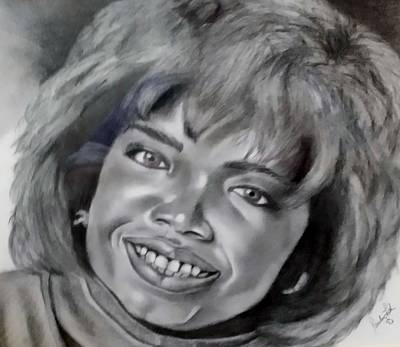 Drawing - Oprah  by Rob Hans