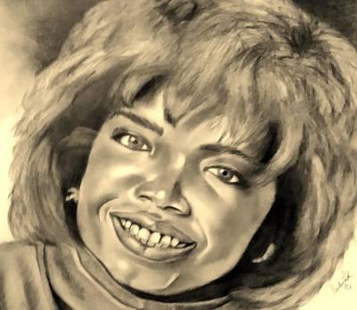 Drawing - Oprah Sepia by Rob Hans