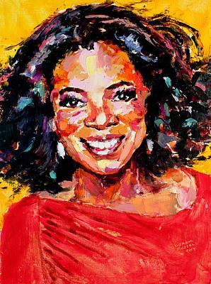 Derek Russell Wall Art - Painting - Oprah Winfrey by Derek Russell