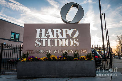 Oprah Winfrey Harpo Studios Sign In Chicago Art Print by Paul Velgos