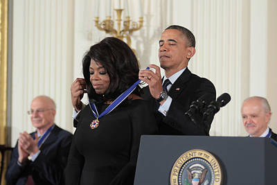 East Room Of The White House Photograph - Oprah Winfrey Medal Of Freedom by Douglas Adams