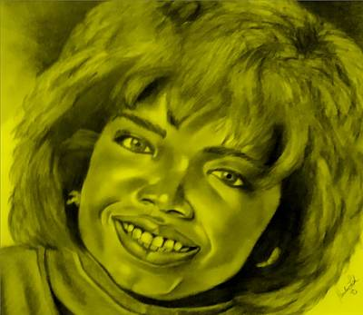 Drawing - Oprah Yellow by Rob Hans