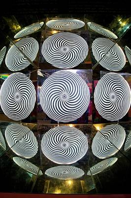 Spiral Photograph - Optical Illusion by Mark Williamson