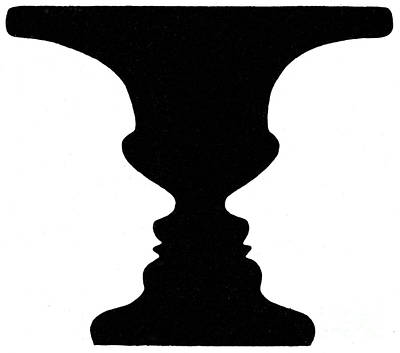 Photograph - Optical Illusion Rubins Vase 1915 by Science Source