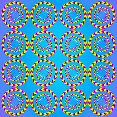 Optical Illusion Spinning Wheels Art Print