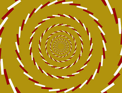Optical Illusion Whirlpool Art Print by Sumit Mehndiratta