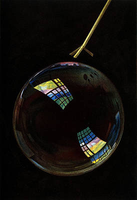 Printmaking Photograph - Optics, Soap Bubble, Interference by Wellcome Images