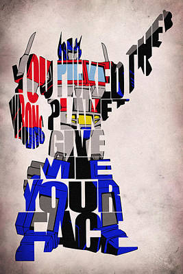Optimus Prime Art Print by Ayse Deniz