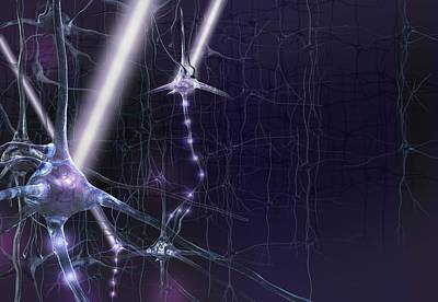 Optogenetics, Conceptual Artwork Art Print by Science Photo Library