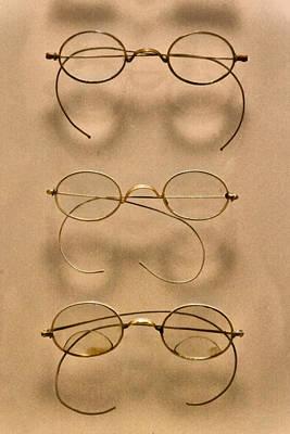 Optometrist - Simple Gold Frames Print by Mike Savad