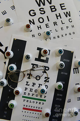 Eye Chart Photograph - Optometrist - The Eye Chart by Paul Ward