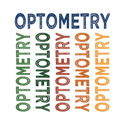 Optometry Digital Art - Optometry Cute Colorful by Flo Karp
