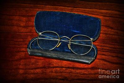 Optometry - Vintage Glasses Art Print by Paul Ward