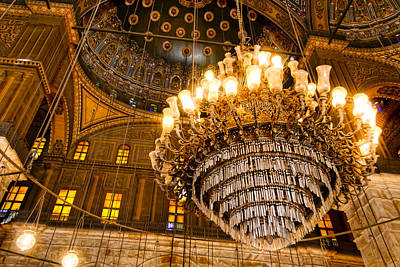 Photograph - Opulent Interior Of The Alabaster Mosque In Cairo by Mark E Tisdale