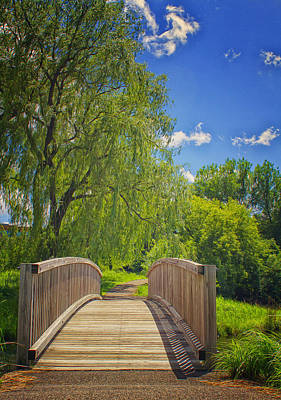 Photograph - Opus Trail Bridge by Linda Tiepelman