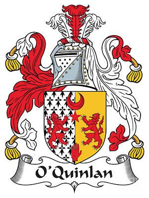 Oquinlan Coat Of Arms Irish Art Print by Heraldry