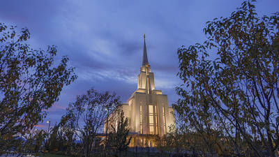 Frame House Photograph - Oquirrh Mountain Temple II by Chad Dutson