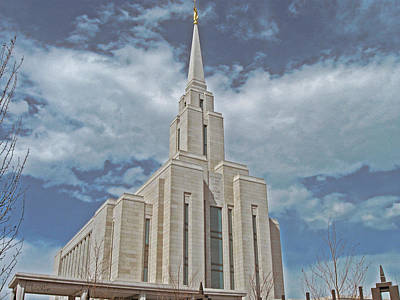 Photograph - Oquirrh Mountain Temple by VaLon Frandsen