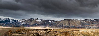 Oquirrh Mountains Winter Storm Panorama 2 - Utah Art Print
