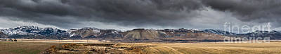 Jordan Photograph - Oquirrh Mountains Winter Storm Panorama - Utah by Gary Whitton