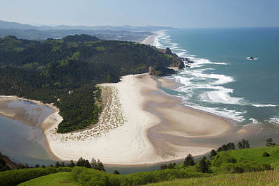Salmon River Photograph - Or, Cascade Head, View Of Beach by Jamie and Judy Wild