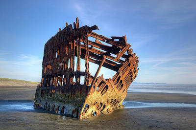 Peter Iredale Photograph - Or, Fort Stevens State Park, Wreck by Jamie and Judy Wild