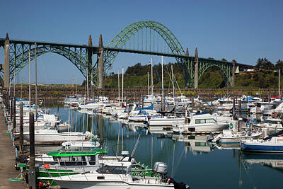Yaquina Bay Photograph - Or, Newport, Marina With Pleasure Boats by Jamie and Judy Wild