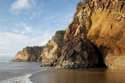 Or, Oregon Coast, Hug Point Print by Jamie and Judy Wild