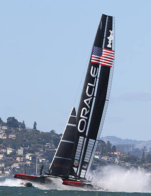 Photograph - Ac 34 Winner Oracle by Steven Lapkin