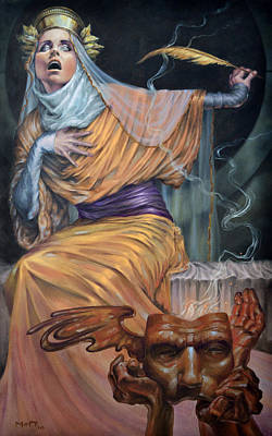 Oracle Of Delphi Painting - Oracle by Matt Hughes