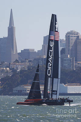 Jason O. Watson Photograph - Oracle Team Usa America's Cup San Francisco Bay by Jason O Watson