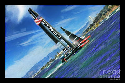 Photograph - Oracle Team Usa And The New Bay Bridge by Blake Richards