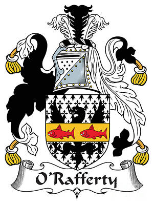 Rafferty Digital Art - Orafferty Coat Of Arms Irish by Heraldry