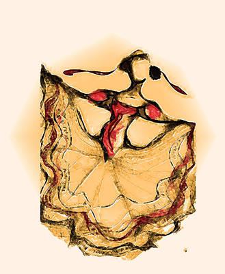 Folklorico Digital Art - Orang Dancer by Ellsbeth Page