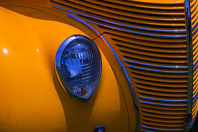 Ford Coupe Photograph - Orange 1938 Ford Coupe by Garry Gay
