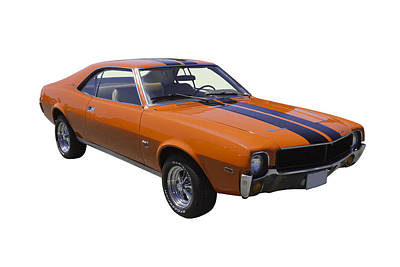 Photograph - Orange 1969 Amc Javlin Car by Keith Webber Jr