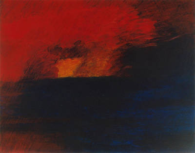 Painting - Orange 1985 by Karl Leonhardtsberger