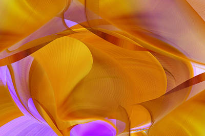 Digital Art - Orange - Abstract by rd Erickson