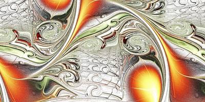 Digital Art - Orange Accent by Anastasiya Malakhova