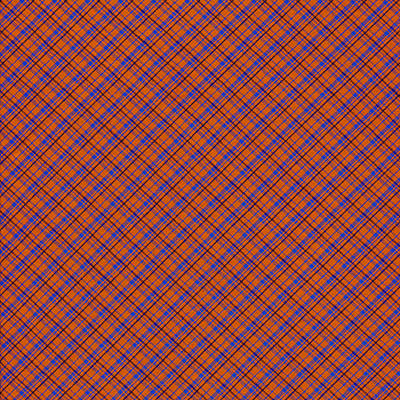 Photograph - Orange And Blue Diagonal Plaid Pattern Cloth Background by Keith Webber Jr